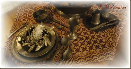 Pewter table christmas
