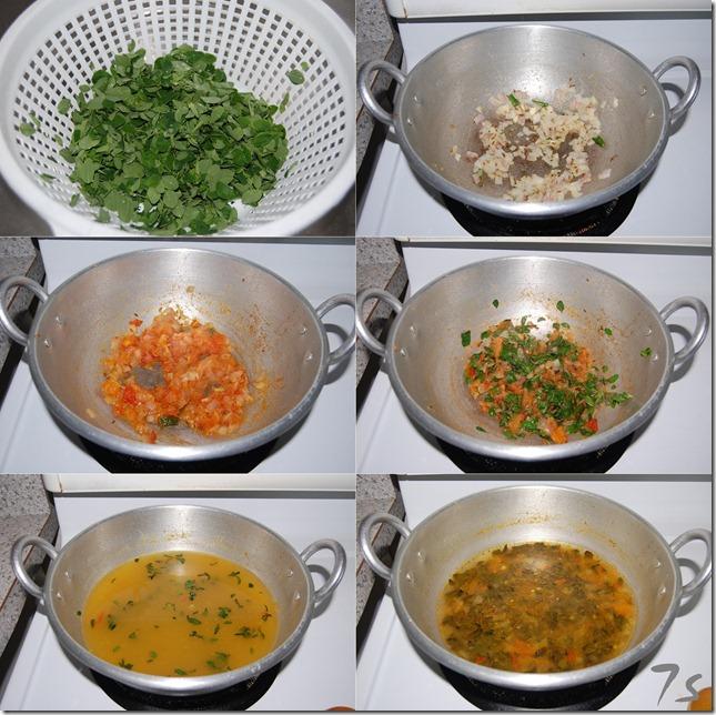 Murungai keerai soup process