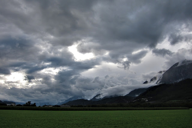 Storm clouds over Tirol.