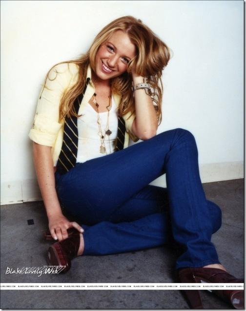 Blake Lively Blue Jeans