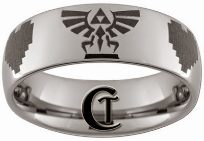 Legend of Zelda Ring from CustomTungsten on Art Fire