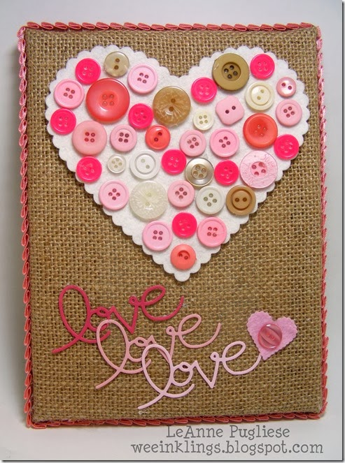 LeAnne Pugliese WeeInklings ColourQ 226 Pinterest Inspired Button and Felt Heart