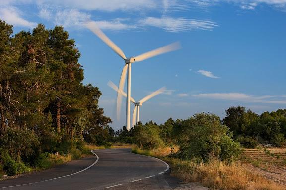 Parc eòlic de la Terra Alta.Vilalba dels Arcs, Terra Alta, Tarragona