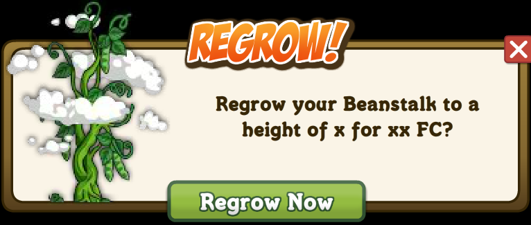 Farmville Magic Beanstalk Regrow Option