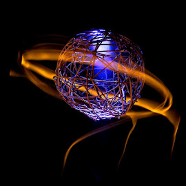 Saturn, of middle earth by Gregg Pratt - Abstract Light Painting ( abstract )