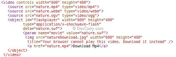 html5-video-fallback