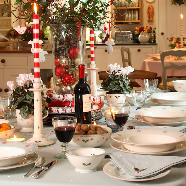 Christmas Table Settings Casual Cottage
