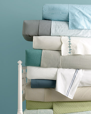 Stay cool on warm summer nights with the lightest and brightest of bed linens.