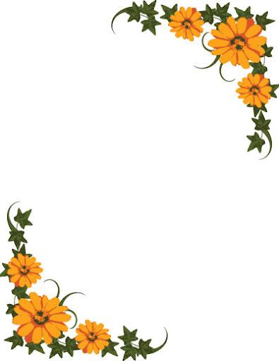 Flower Border Clip Art