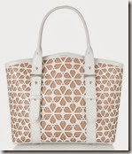 Alexander McQueen White Laser Cut Leather Tote