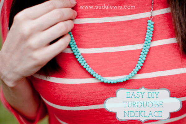 diy turquoise necklace