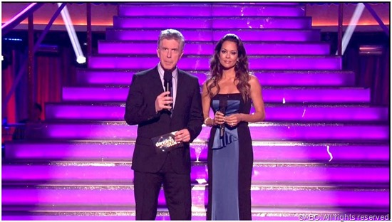 Tom Bergeron and Brooke Burke Charvet from DWTS.