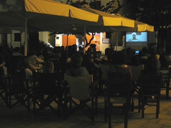 «Σινέ-Καμπάνα»: Φωτογραφίες από την προβολή ταινίας στο Καφενείο της Καμπάνας