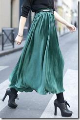 mc-saia longa plissada verde