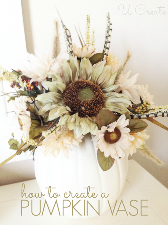 DIY Pumpkin Vase by U Create