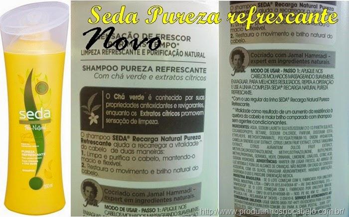 Novo Seda Recarga Natural - Pureza Refrescante