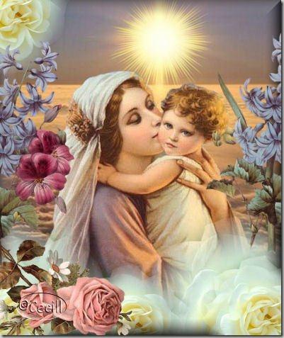 Estampas, postales y gifs de la Virgen María | Busco Imágenes