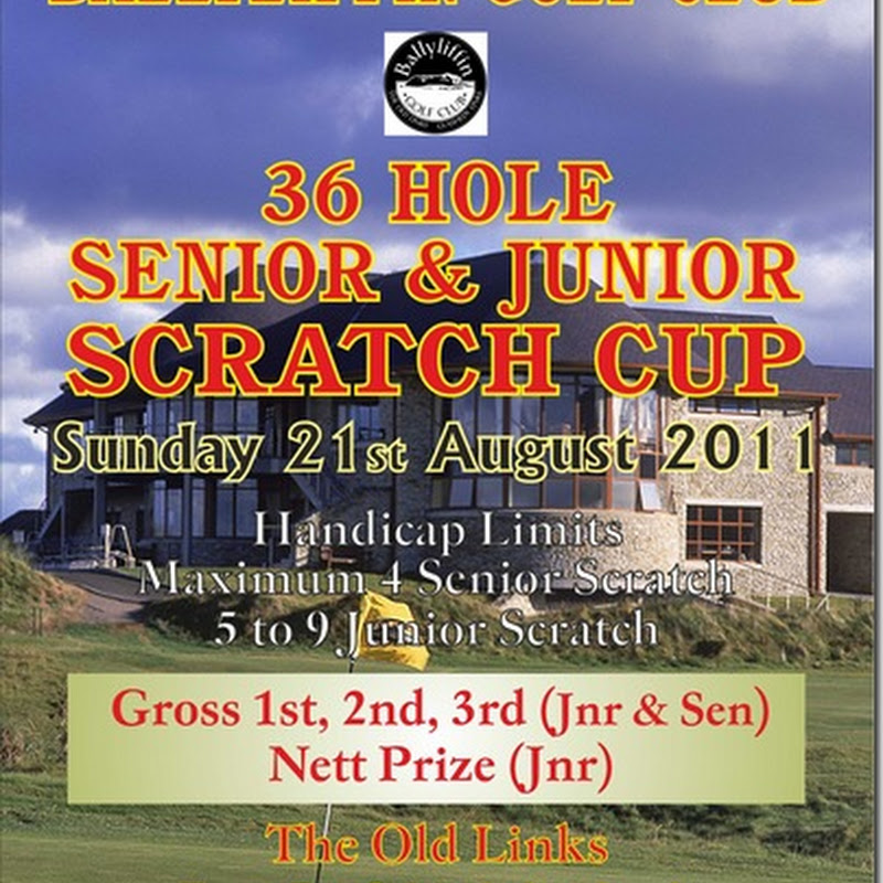 Ballyliffin Scratch Cup Sunday 21st August 2011