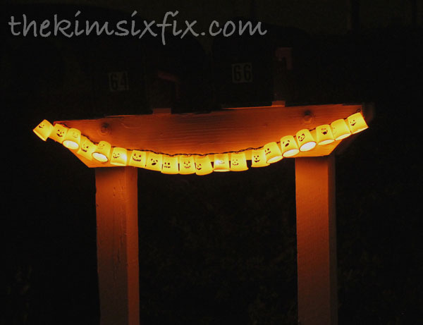 K Cup Glowing pumpkin garland