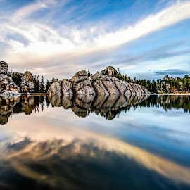 Sylvan lake  by Shaun Peterson - Landscapes Waterscapes