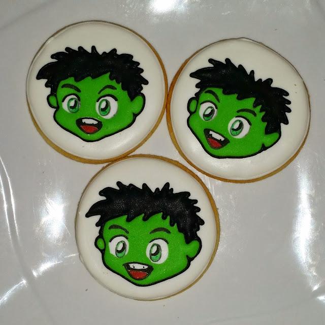 chibi hulk cookies