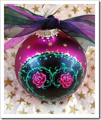 Entwined Rose Heart Ornament - top