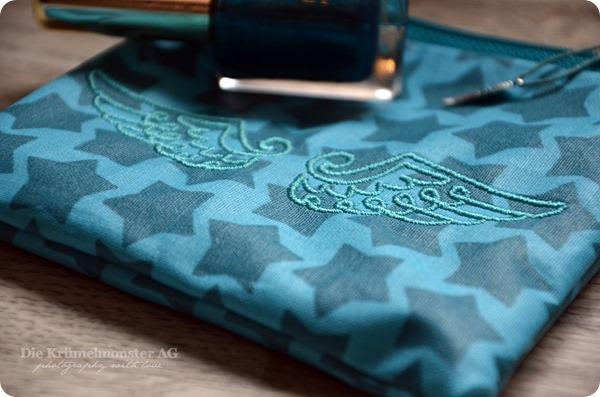 Täschchen mit Engelflügel Embroidery by Anja Rieger (3)