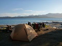 Campspot on Lago Nahuel Huapi, Argentina.