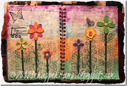 flowers journal 3 w border