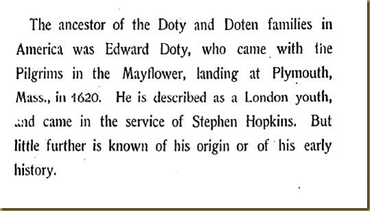 Doty-Doten Family In America - The Family of Edward Doty (1)