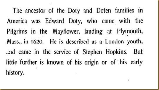 Doty-Doten Family In America - The Family of Edward Doty (1)