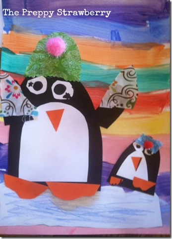 Penguin Art Project {The Preppy Strawberry)