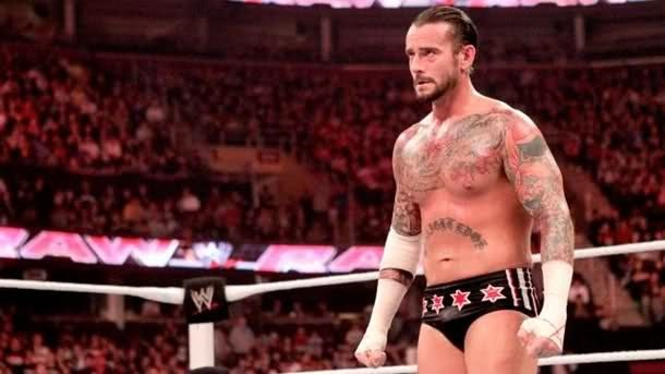 CM Punk durante un SuperShow de WWE Raw