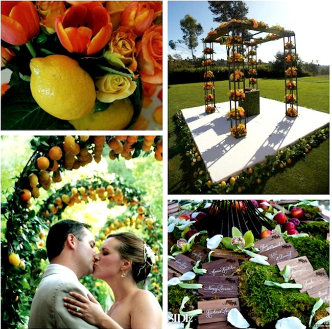 decoracao casamento frutas