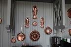 Copper molds, like these were quite popular during the Victorian era.  They were used to make cakes, savory pies, mousses, jellies, and other tasty delights.
