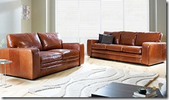 Darlings of Chelsea Leather Sofa
