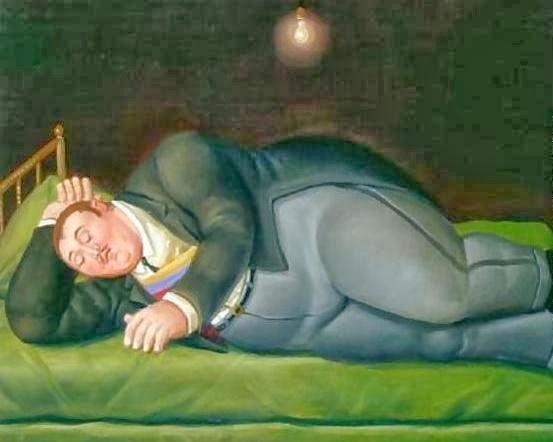 Fernando Botero, Presidente dormindo