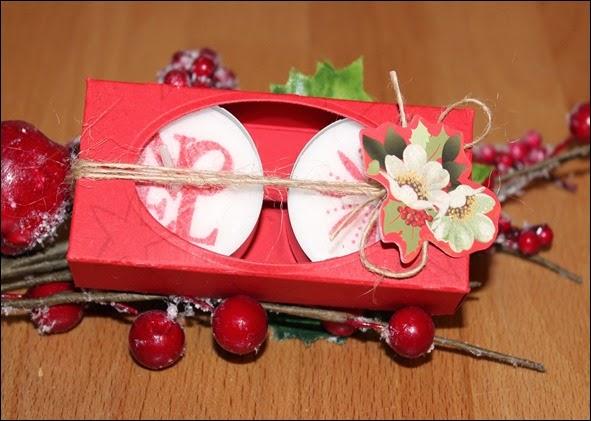 Teelichter Verpackung Schachtel Nikolaus Weihnachten Box selbstgemacht 10