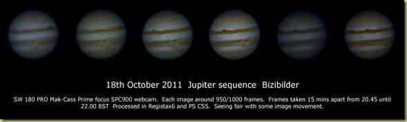 18 October 2011 Jupiter sequence