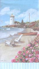 lighthouse scene napkin