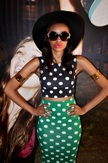 South African Street Style Polka Dots