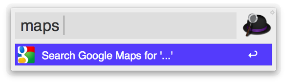 Search Google Maps with Alfred