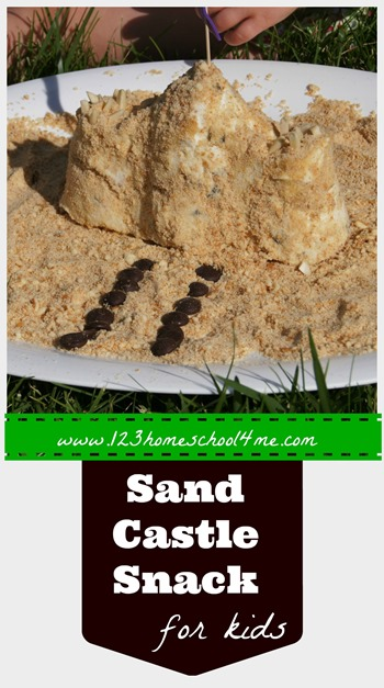How to make a FUN Ice Cream Sandcastle Snack for Kids #recipes #summer
