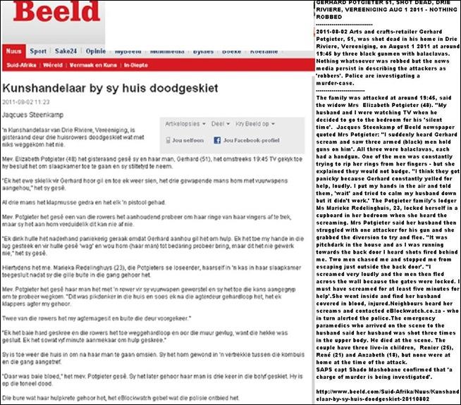 POTGIETER GERHARD art dealer shot dead 3Riviere Vereeniging Aug22011