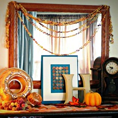 fall mantel square