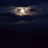 Moonlight drive to Salmon Lake - Nome