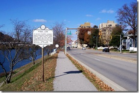 Fort Lee marker in Charleston, West Virginia along Kanawha Boulevard