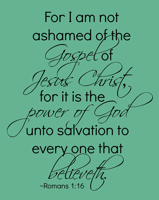 I am not ashamed of the Gospel of Jesus Christ #printable #gingersnapcrafts #iamamormon