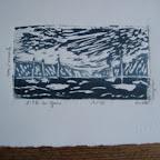 L'île de Gaou (Var) Gravure sur bois tirage numéroté à 12      50€