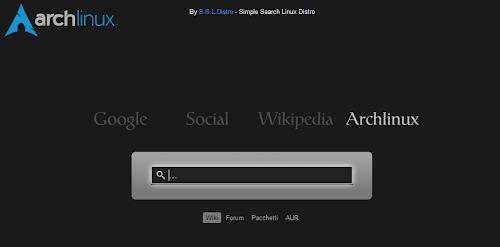 SSLDISTRO - home page per Arch Linux